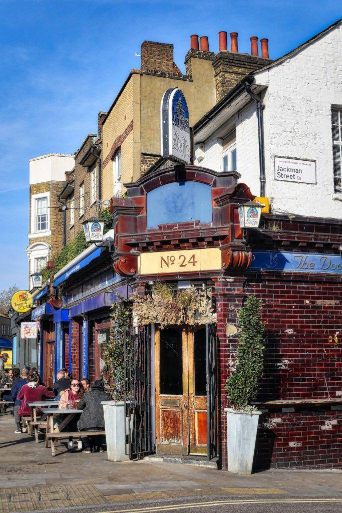 East London pub, on the corner of Jackman Street, Hackney