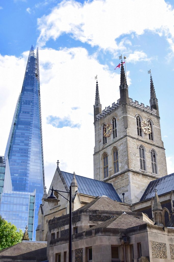 The Shard & Southwark Cathedral, South London