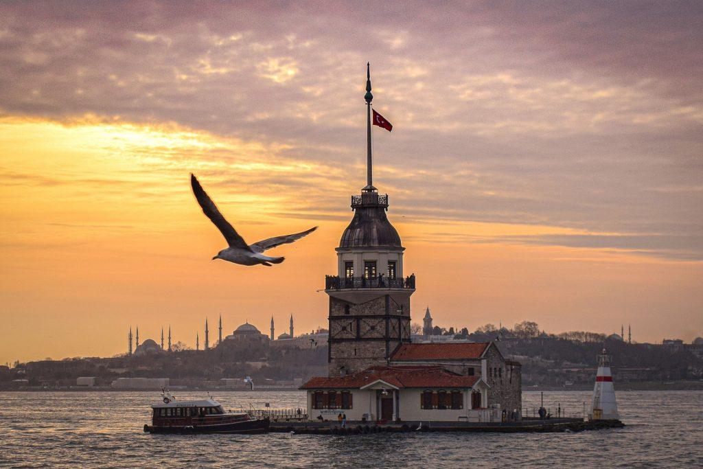 Maiden's Tower on the Bosphorus at Istanbul, Turkey